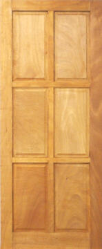 Entry door mixed timber 6 panel