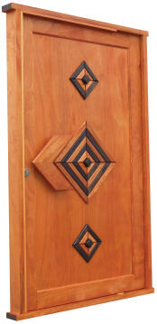 Entry door engineered hard wood diamond pivotot left hand
