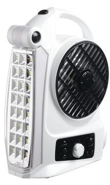 Fan/light/radio GOLDAIR rechargeable