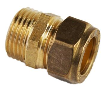 Straight coupler compression c x mi 15mm x 1/2""