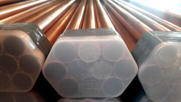 Copper pipe 22mm x 1m class 0