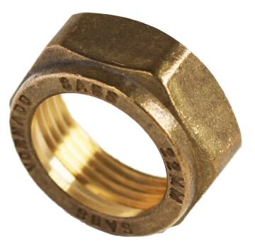 Spare cap nut for compression fitting 22mm