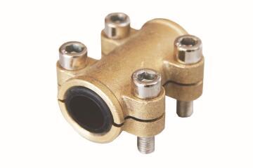 Clamp tube repair brass 15mm