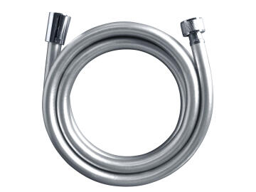 SHOWER HOSE 1.75M PVC SILVER GREY NO ACS