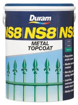 DURAM NS8 METAL TOPCOAT BLACK 5L