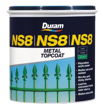DURAM NS8 METAL TOPCOAT BLACK 1L