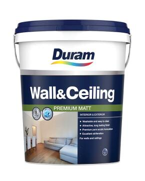 DURAM WALLS & CEILINGS PASTEL BASE 20L