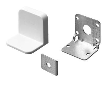 CABINET SECURITY BRACKET W/WHITE COVER