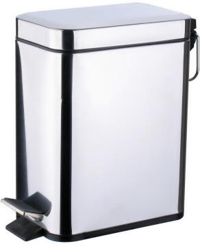 Dustbin SENSEA slim chrome 5L