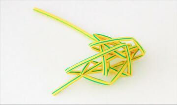 Heat shrink 3.2mm PROTON yellow / green 1m