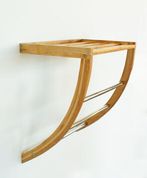 Towel rack bamboo SENSEA light carbon finish