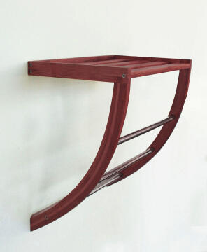 Towel rack bamboo SENSEA Dark carbon finish