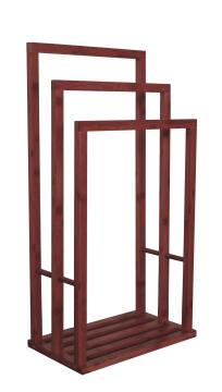 Towel stand bamboo SENSEA Aneko 3b Dark carbon