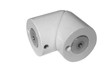 HANDRAIL JOINT ANGLE ALU WHITE 40MM