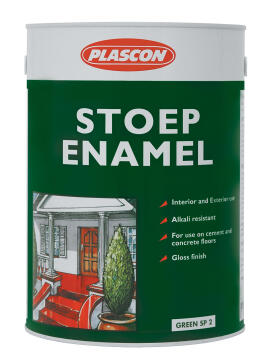 STOEP ENAMEL BLACK 5L