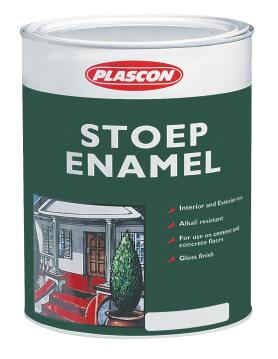 STOEP ENAMEL BLACK 1L