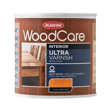 WOODCARE U/VARNISH - GLOSS CLEAR 500ML