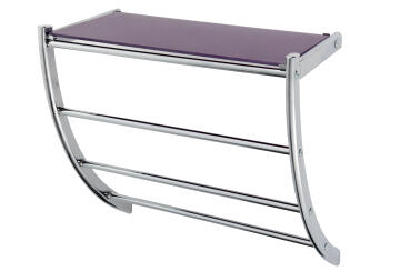 Hotel Rack with Glass Shelf SENSEA Curved