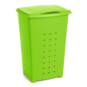 Linen basket 65 l millenium green
