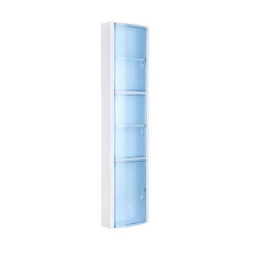 Mirror vertical carbinet blue