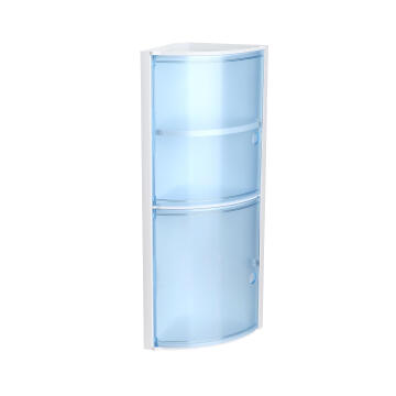 Shower shelves with drawer blue