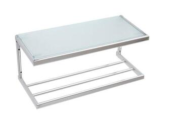 Hotel Rack with Glass Shelf SENSEA Square