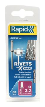 RIVETSD3.2X8MM STAINLSTEEL50PCS+DRILLC
