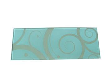 Glass shelf rectangle white W60xD15cm