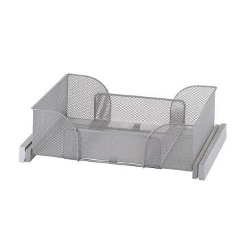 Sliding mesh metal basket H15 x W(36-56) x D38cm