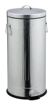 Kitchen pedal bin 30L galvanized