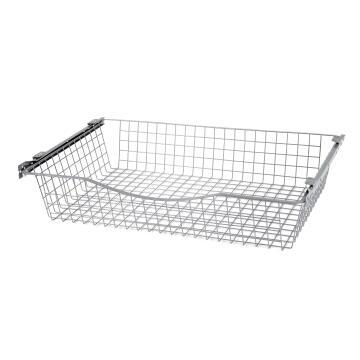 Sliding mesh metal basket H15 x W76.8 x D50cm