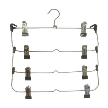 Hanger for skirts 4 hanging bar Spaceo chrome