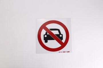 NO ENTRY FOR VEHICLES 190X190 ABS