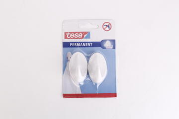 PERMANENT HOOKS OVAL L WHITE