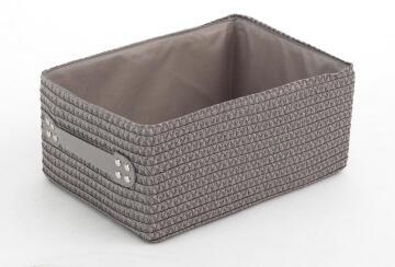 Laundry basket woven rectangle SENSEA grey 32X22X15CM