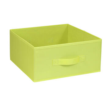 POLYESTER BASKET 31X31X15 YELLOW GREEN