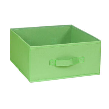 POLYESTER BASKET 31X31X15 GREEN