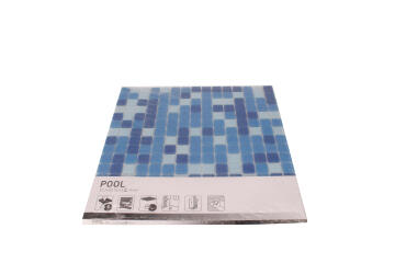 Mosaic Reconstituted Glass Blue Mix 32.7x32.7cm