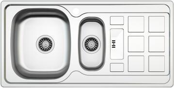 PARKER AS106 Linen Stainless Steel Sink 1 1/2 Bowl 1000 x 500mm Drop In
