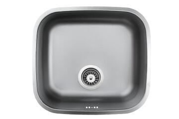 Kitchen sink 1 square bowl undermount antiscratch stainless steel 508cm X 428cm