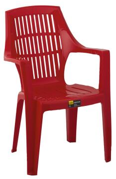 CHAIR PLASTIC RED