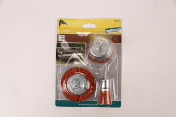 1 SET OF NYLON BRUSHES WITH SHANK 6 MM