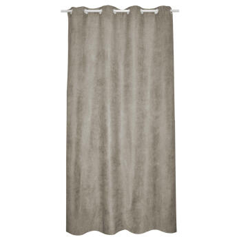 SUEDE CURTAIN EYELETS 140X260CM 180G/M2 TAUPE