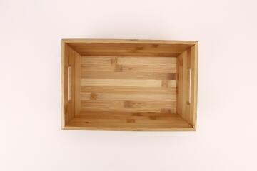 Storage Tray Bamboo SENSEA 33x22x10cm/27x17carbon finsh