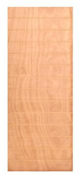Door interior standard veneer horizontal groove medium duty EE