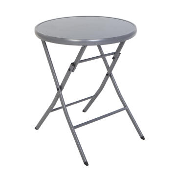 NATERIAL EMYS TABLE STEEL D.GREY DIAM60