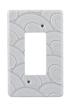 Cover plate 50x100mm for isolator CRABTREE circle white