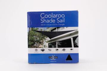 SAIL SHADE TRI. COOLAROO 5X5X5M CHARC