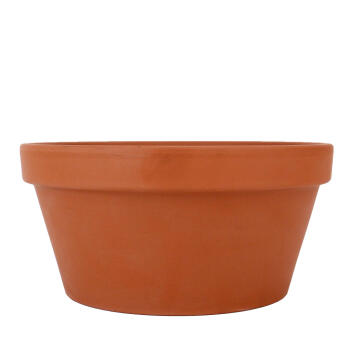 POT TERRACOTTA BOWL WITH HOLE 24CM