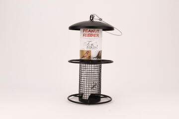 FEEDER METAL PEANUT FEEDER BLACK 2